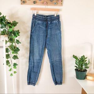 Gryphon New York | Pegged Denim Jogger Style Pants
